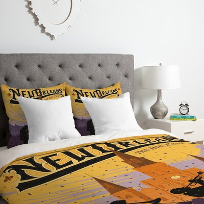 New Orleans 1 Duvet Cover Set Size: Queen