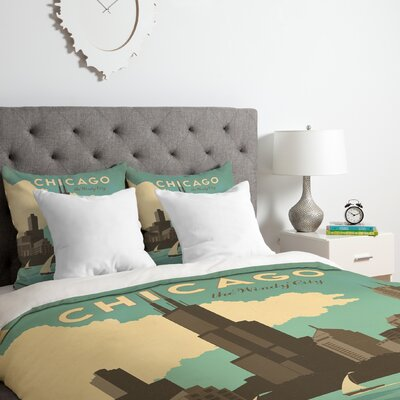 Chicago Duvet Cover Set Size: King
