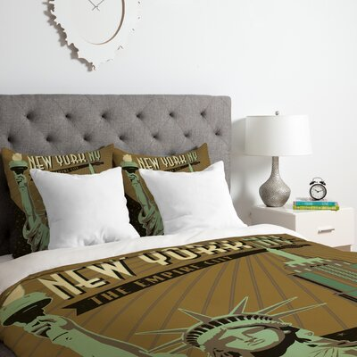 New York Duvet Cover Set Size: King