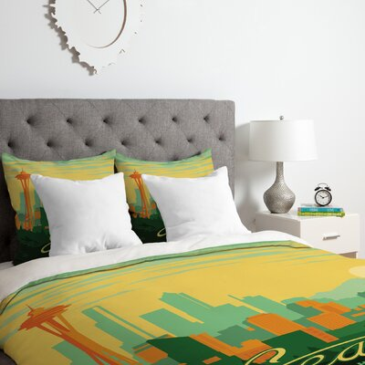Anderson Design Group Seattle Duvet Cover Set Size: Queen