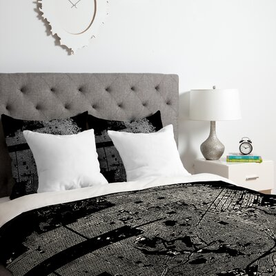 San Francisco Duvet Cover Set Color: White, Size: King