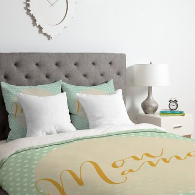 French My Love Duvet Cover Set Size: Queen