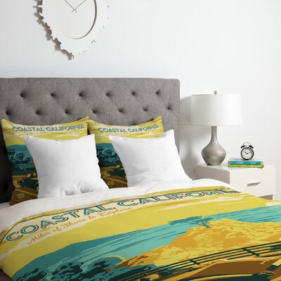 Coastal California Duvet Cover Set Size: King