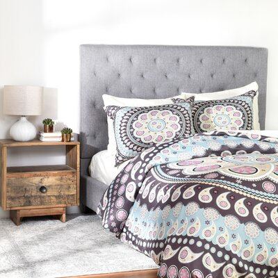 Belle 13 Mandala Duvet Cover Set Size: Queen