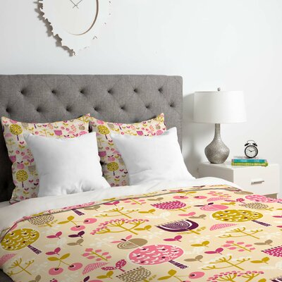 Retro Orchard 2 Piece Duvet Cover Set