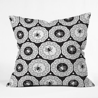 Spiders Delight Throw Pillow Size: 16 H x 16 W x 4 D