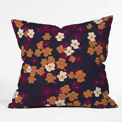 Blooms of Mini Pansies Throw Pillow Size: 18 H x 18 W x 5 D