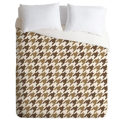 Houndstooth Duvet Cover Size: Queen