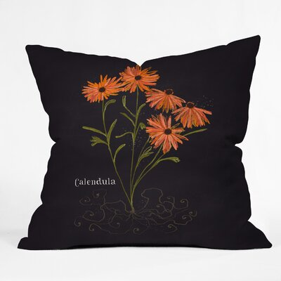 Herb Garden Calendula Throw Pillow Size: 18 H x 18 W x 5 D