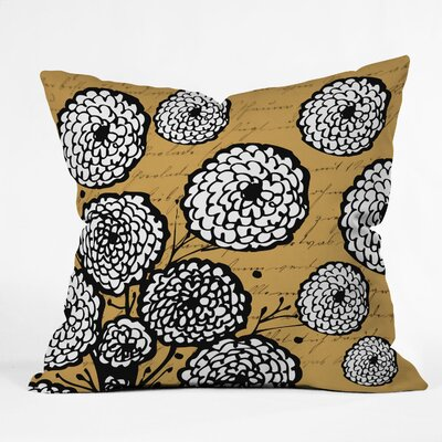 Flowery Letter Throw Pillow Size: 18 H x 18 W x 5 D
