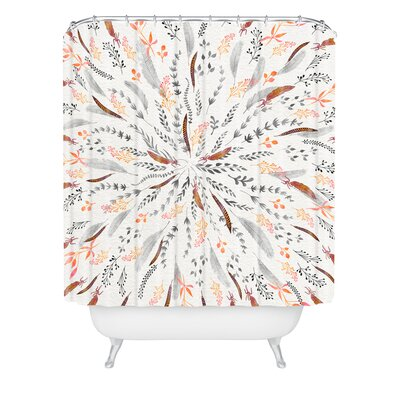 Iveta Abolina Feather Roll Shower Curtain