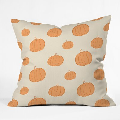 Pumpkins Throw Pillow Size: 26 H x 26 W x 7 D
