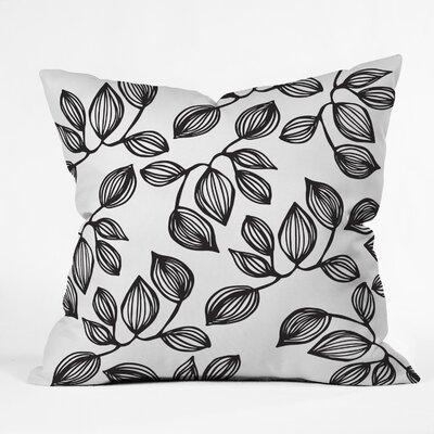 Julia Da Rocha The Leaves Throw Pillow Size: 16 H x 16 W x 4 D