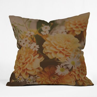 Leah Flores Autumn Floral Throw Pillow Size: 16 H x 16 W x 4 D