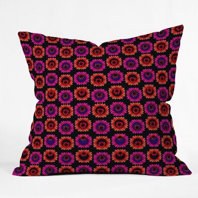 Fall Floral Throw Pillow Size: 16 H x 16 W x 4 D