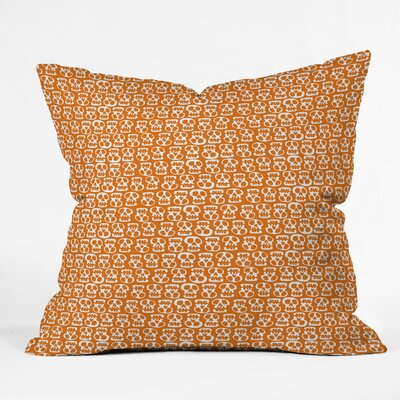 Skulls Throw Pillow Size: 26 H x 26 W x 7 D, Color: Orange