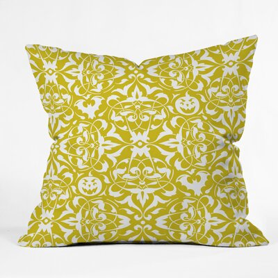 Heather Dutton Gothique Throw Pillow Size: 16 H x 16 W x 4 D, Color: Green/White