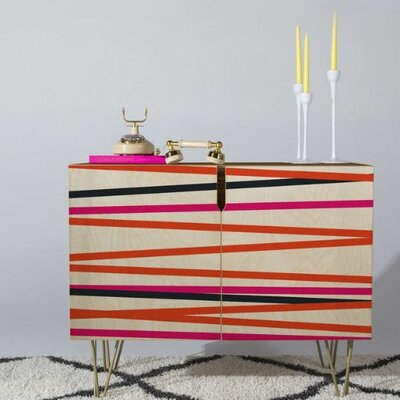 Khristian A Howell Crew Stripe Warm Accent Cabinet