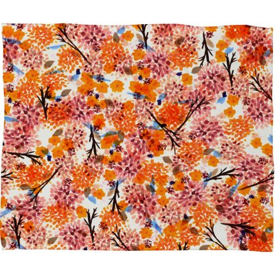 Floral Forest Throw Blanket