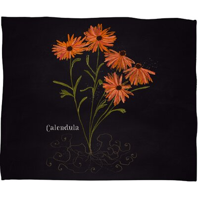Joy Laforme Herb Garden Calendula Throw Blanket