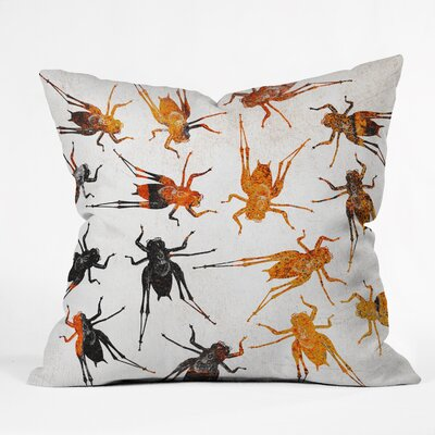 Grasshoppers Throw Pillow Size: 18 H x 18 W x 5 D