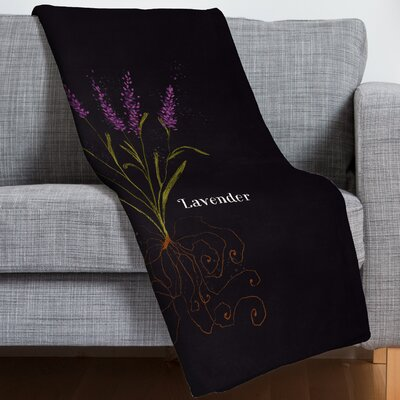 Joy Laforme Herb Garden Lavender Throw Blanket
