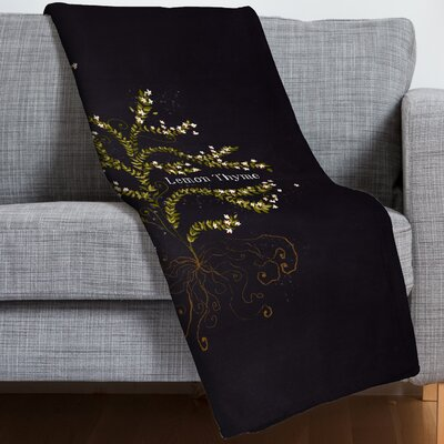 Joy Laforme Herb Garden Lemon Thyme Throw Blanket
