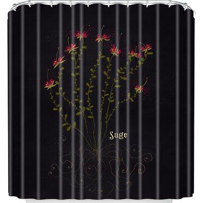 Joy Laforme Herb Garden Sage Shower Curtain