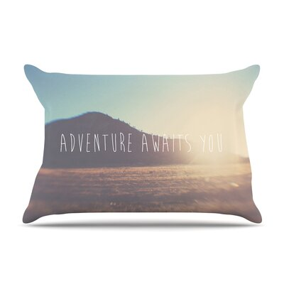 Laura Evans Adventure Awaits You Coastal Typography Pillow Case