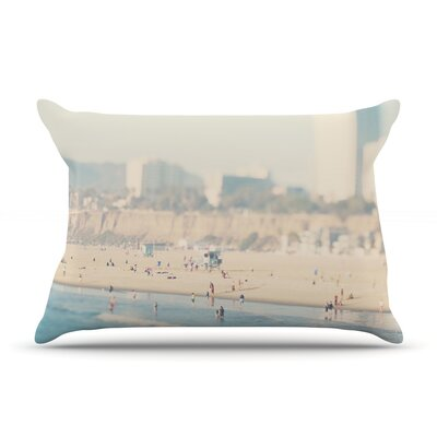 Laura Evans Santa Monica Beach Pillow Case