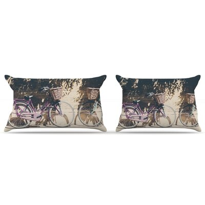 Laura Evans Pretty Bicycles Pillow Case