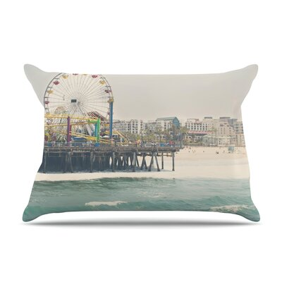 Laura Evans The Pier At Santa Monica Coastal Pillow Case