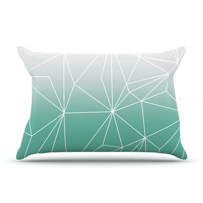 Mareike Boehmer Simplicity Pillow Case Color: Teal/White