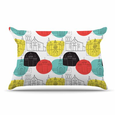 MaJoBV Cartagena Churches Polkadot Pillow Case