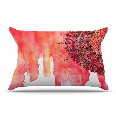 Li Zamperini Red Mandala Pillow Case