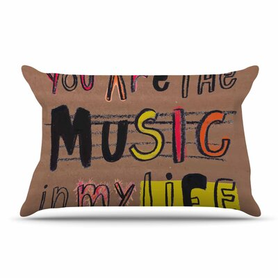 MaJoBV Music In My Life Quote Pillow Case