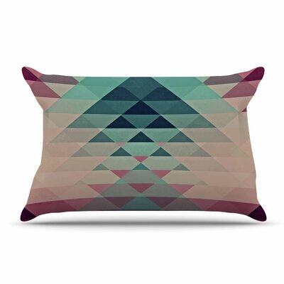 Nika Martinez Hipster Pillow Case Color: Maroon/Teal