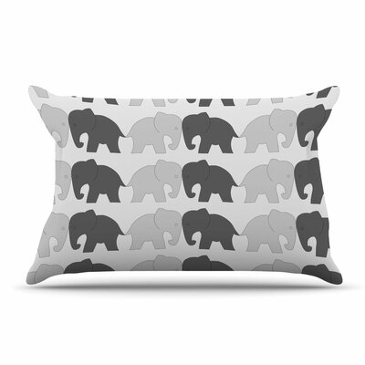 NL Designs Elephants On Parade Animals Pillow Case