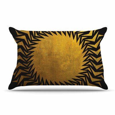 Matt Eklund Gilded Chaos Geometric Pillow Case