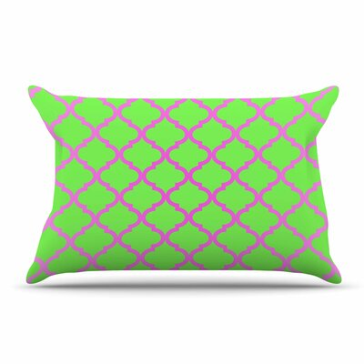 Matt Eklund Culture Shock Pillow Case Color: Green/Pink