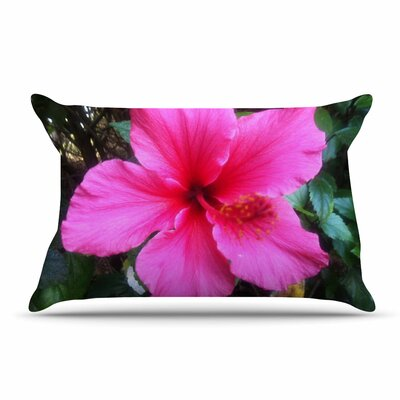 NL Designs Tropical Hibiscus Floral Pillow Case