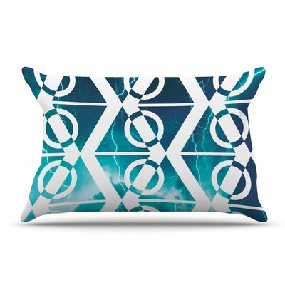 Matt Eklund Storm Pillow Case Color: Teal/White