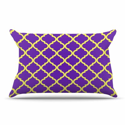 Matt Eklund Culture Shock Pillow Case Color: Yellow/Purple