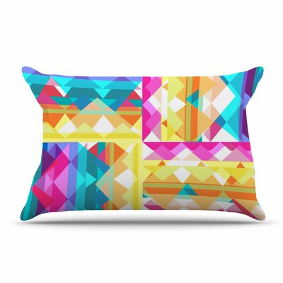 Miranda Mol Triangle Checker Pastel Rainbow Pillow Case