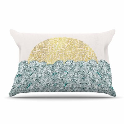 Pom Graphic Design Sunny Tribal Seas Ii Ocean Pillow Case