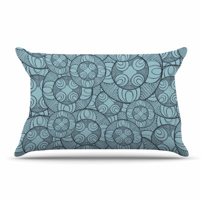 Maike Thoma Layered Circles Design Floral Pillow Case