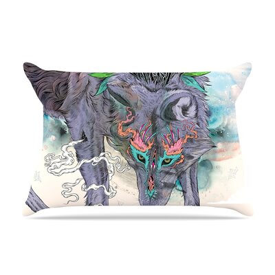 Mat Miller Journeying Spirit Wolf Pillow Case