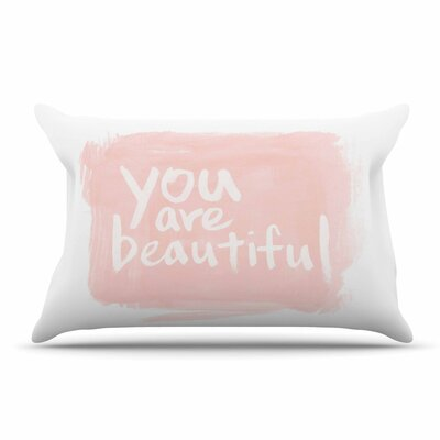 Qing Ji Brush Lettering Beautiful Peach Pillow Case