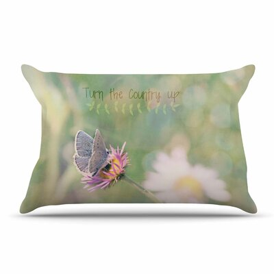 Robin Dickinson Turn The Country Up Typography Pillow Case