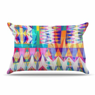 Miranda Mol Triangle Collage Pastel Geometric Pillow Case